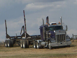 For Sale: 2004 Kenworth W900 with Jeep and Log trailer