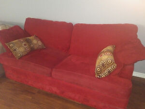 Red Couch - free for pick-up