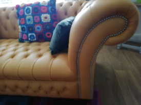 Real leather chesterfield sofa