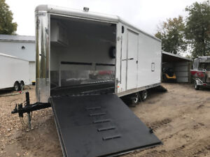 2015 Haulmark 8.5 x 22 V Nose,  Side by side & Snowmobile Combo