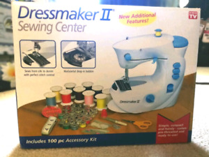 Dressmaker II Sewing Center Compact Portable Sewing Machine