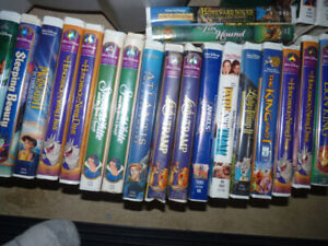 Disney movies vhs with cases