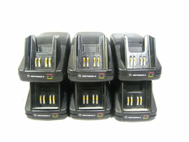 Lot of 6 Motorola NTN7209A Charger w/ Power Cable