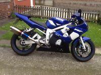 Yamaha yzf r6 2002 02 reg, may deliver
