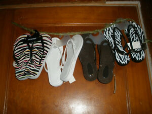 4 NEW Pairs of Ladies Sandals, Size 6