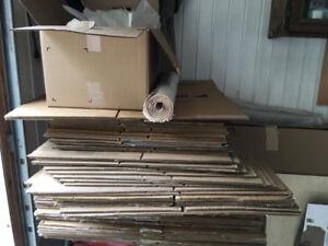 Boîtes de déménagement.