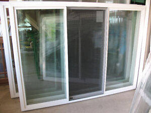 vinyl windows big center vents brand new