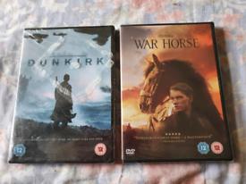 DVD Dunkirk&WarHorse Still in Wrapping £4each