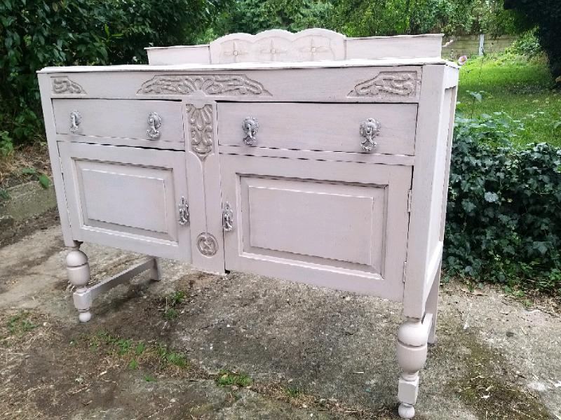Shabby Chic Sideboard Dresser Buffet Cabinet Oak French Style Pink In Longfield Kent Gumtree