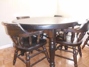 Set de Cuisine en Pin/Solid Pine Table Set with Chairs