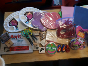 Craft supplies and stamps