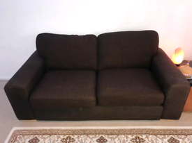 Free for collection 2 x large brown sofa