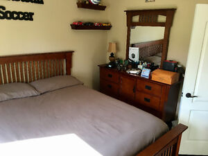 Dresser w/mirror, bed board and night table for sale Windsor Region Ontario image 1