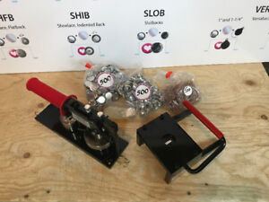 """BRAND NEW TECRE 7/8""""'s Button Maker Kit Tiny Buttons! A+++++"""