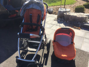 Uppa Baby Vista Stroller w Bassinet and Car Seat Adapter