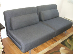 """Sofa-bed - Charcoal 72"""" wide"""