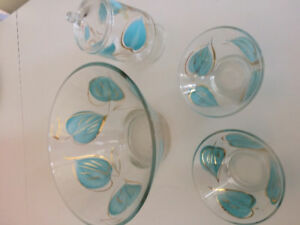 Glass Chip Bowl and accessories
