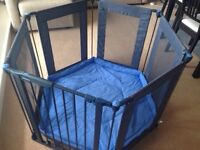 Lindam Metal Playpen - playpen with playmat, room divider, hearth guard or safety gate
