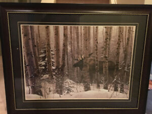 "Stephen Lyman Print of a ""A Walk in the Woods"""