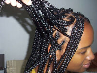 tresses africaines( twist, passe meches , twist ... et TISSAGE