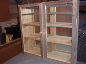 Antique Barn Board Display Cabinet PRICE REDUCED