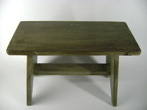 Little Farm house Style Wooden Bench/foot stool