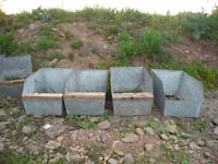 rabbit nest boxes and feeders