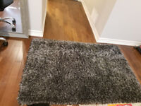 dark grey area shug rug - almost new from costco - $60