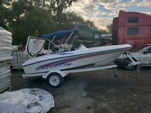 1996 sea ray jetboat 120 hp swap for snowmobile
