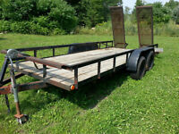 Car Hauler, equipment hauler flat bed trailer