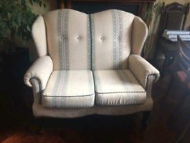 COTTAGE SUITE 2 SEATER 2 WING BACK CHAIRS