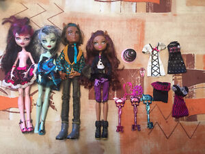 Monster High Sweet 1600 4 doll lot Christmas