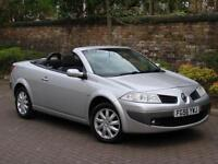 EXCELLENT CONVETIBLE! 56 REG RENAULT MEGANE 1.6 VVT DYNAMIQUE, PANORAMIC SUNROOF