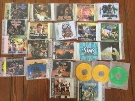 Collection of PC games on CDs