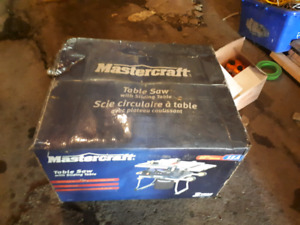 "Mastercraft 10""  15A Table Saw"