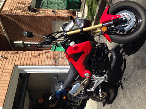 Clean Honda Grom with upgrades