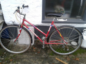 red woman's bicycle for sale