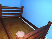 PINE LOG DOUBLE BED For Sale! Only $400  OBO!!