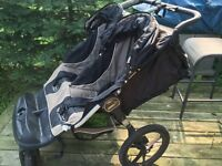 Double side-by-side Baby Jogger stroller