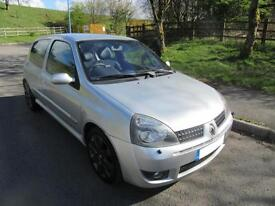 RENAULT CLIO 2.0 16v RENAULTSPORT 182 3 DOOR HATCH IN SILVER ONLY 60,000 MILES