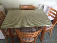 **Bargain basement price - has to go - kitchen table and 4 chairs**