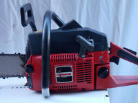 Jonsered 625 chainsaw with a 24 inch bar and chain