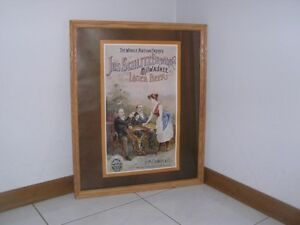 JOS. SCHLITZ BREWING CO. MILWAUKEE LAGER BEER PICTURE & FRAME