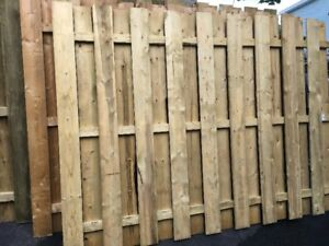 Wooden Privacy Fence sections