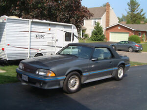1987 Mustang GT Convert 5 Speed, Loaded, Low Km's, All Original
