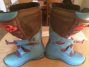 Fox size 10 motocross boots