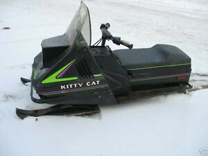 1991 kitty cat snow mobile