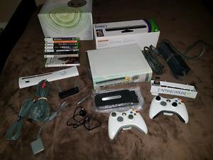 Kit Xbox 360 avec kinect , jeux et accessoires