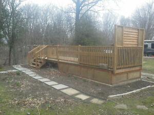 Newly Constructed  8ft.x28ft. pressure treated  deck