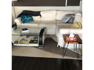 Sectional Cream Couch (4 piece) and other furniture $450 OBO